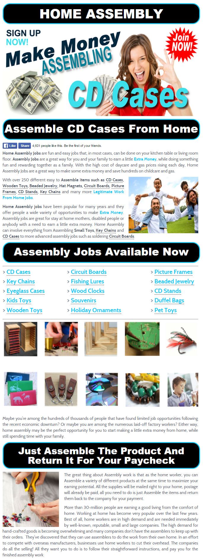 Assemble From Home Jobs Assemble Cd Cases At Home Assembleandearn Assembly Jobs At Home About
